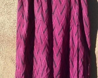 vintage JAEGER skirt pink and black geometric print, womens medium