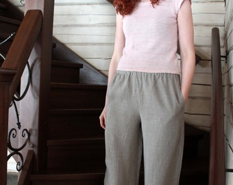 Natural Loose Linen Pants