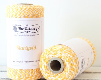 Yellow Twine, Yellow Bakers Twine, Craft Twine, Packaging Twine, Baby Shower, Card Making, Yellow String, Cotton Twine, Twinery Twine