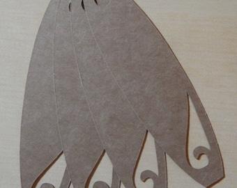 Medium Kraft Surfboard Gift Tags, Blank Tags; Set of 18