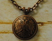 """Great Domed German coin pendant on an 18"""" chain"""