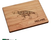 Personalized Engraved Cutting Board with Dinosaur, Tyrannosaurus Rex, T-Rex, Personalized Birthday Gift, Engraved, Custom Cutting Board,Dad