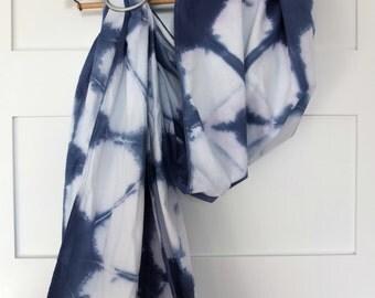 Shibori-dyed, recycled cotton, baby/toddler ring sling