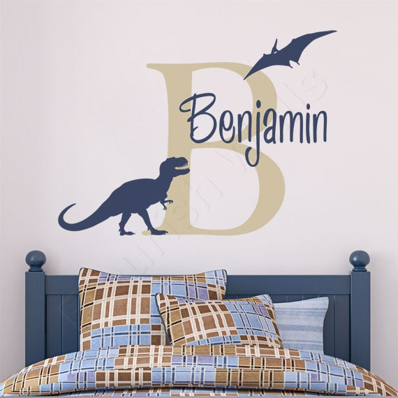 Boys Name Decal Personalized Dinosaur Wall Decal