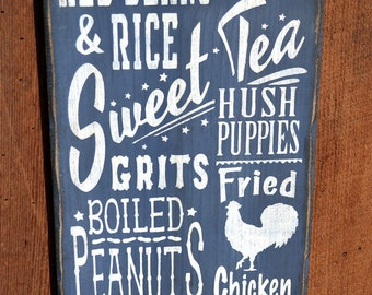 Southern Sweet Tea Subway Sign (Blue/Grey)
