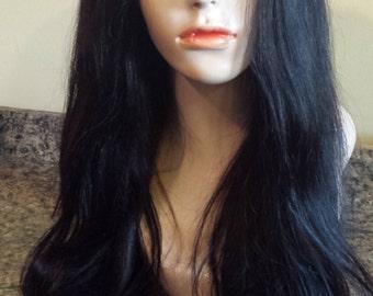 Virgin Brazilian U Part wig. Middle Part