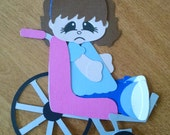 Wheelchair Girl Paper Piecing