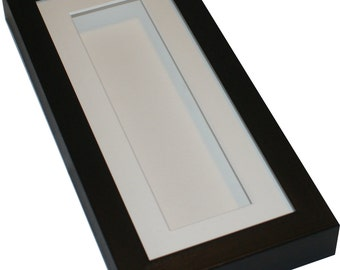 Deep shadow box display frame, 10x4 Tall for medals, pocket watches,keepsakes, decoupage, jewellery etc