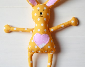 Mini Easter Bunny, Spring Rabbit Plush Fabric Soft Toy, Cuddly, Perfect Easter Gift, Children's Toy, Stuffed Animal