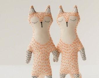 Fox animal softie, baby safe fox toy, fox stuffed animal, Mr fox kids gift, woodland soft animal, fox baby shower gift, animal mini plush