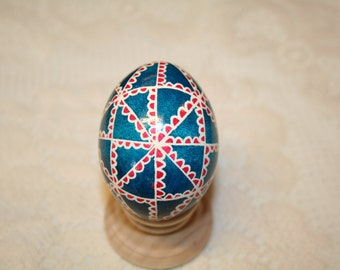 Turquoise & Pink 48 Triangle Ukrianian Egg