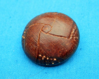 LG Vintage Wood  Dome Button Carved