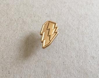 Lightning Bolt pin badge lapel pin