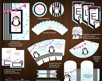 Penguin printable party