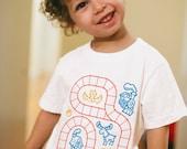 4T, Train Shirt, Christmas Gift for Boys, Boys Train Shirt, Sensory Play Gift, Play Mat Shirt, Train Tracks Birthday Shirt Toddler Girl Gift