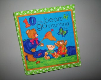 Counting cloth book - preschool number book - baby soft book - toddler learning book - Ten Little Bears Go Counting - learn to count book