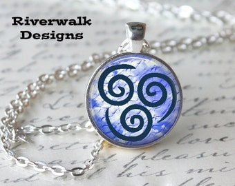 Air Element of Nature Necklace Elemental Pendant Necklace or Keyring Elemental Jewelry Avatar Airbender