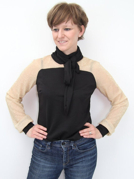 Sheer Long Sleeve Blouse Long Sleeve Sheer Black And