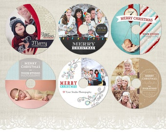 Christmas CD/DVD Labels - Photography CD Label Templates - BDL11