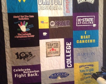 Tshirt Quilt Mosiac Style with Borders