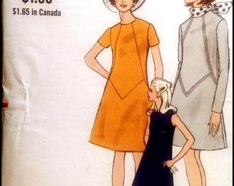 """Vogue  7398 Misses'  One Piece Dress   Bust 34"""""""