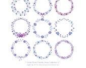 Circle Floral Frames - Roses Collection II - Lavender Roses - Purple Rose - Rose Wedding -Floral Wreath-Wedding Floral-Valentine-Invitation