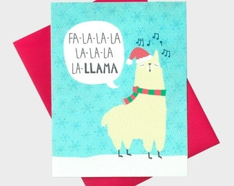 Funny Llama Christmas Card - Llama Holiday Card - Funny Christmas Card - Funny Holiday Card - Xmas Card - Funny Animal Christmas Card