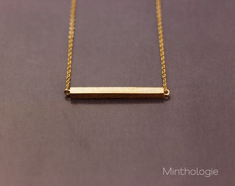 Bar Necklace RN104 • Dainty Necklace, Bar Necklace, Stick Necklace, Gold Bar, Delicate Necklace, Dash Necklace, Gift For Her