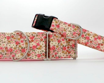 English Country Garden Dog Collar (Martingale, Buckle or Tag)