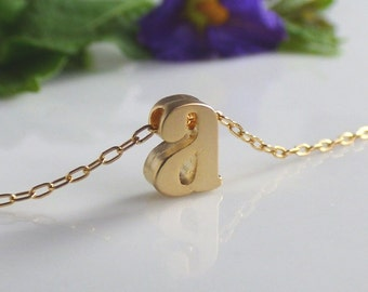 Lowercase Letter Necklace, Gold Letter Necklace, Letter Necklace, Small Letter Necklace ,Initial Necklace, Letter Necklace gold ,Initial