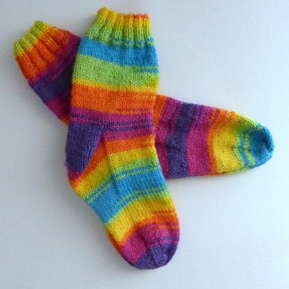 Knitted Slippers Pattern With Two Needles : Two Needles Knitting Socks Patterns. Instant download from ...