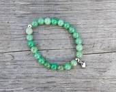 NEW Green aventurine bracelet - august birthstone - gemstone bracelet, genuine green aventurine, semiprecious, meaningful * FREE SHIPPPING