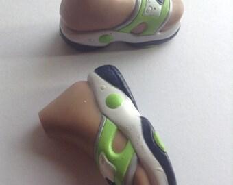 Bratz Boy & Girl Doll Replacement Shoes / Sandals, green / blue, fashion doll accessories, Bratz shoes, male doll, original, EGST, Greece