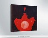 Couple painting, miniature 4x4i, oil painting,  desk decor, i love you, home decor, art, gift ideas, faces shadows