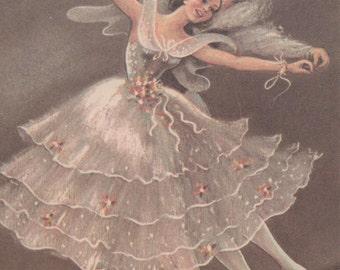 Vintage ballet dancers print by Carina