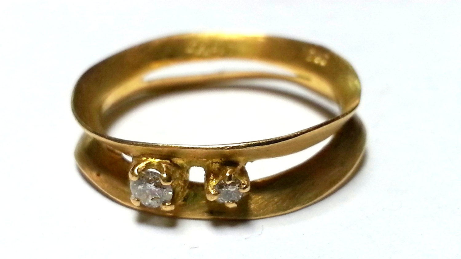unique engagement ring delicate ring thin gold ring