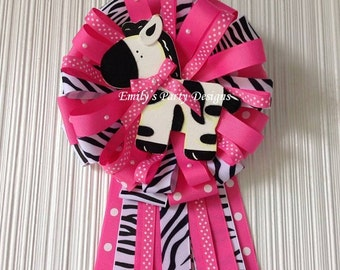 Zebra Mommy-To-be Baby Corsage, Mommy To Be Corsage, Baby Shower Corsage.