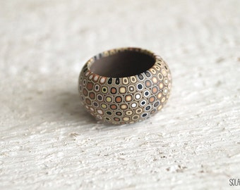 Modern ring Minimalist ring Modern jewelry Contemporary jewelry Geometric jewelry Brown yellow ring Statement ring
