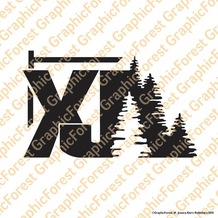 2001 Jeep Xj >> Jeep Cherokee XJ with Trees Decal