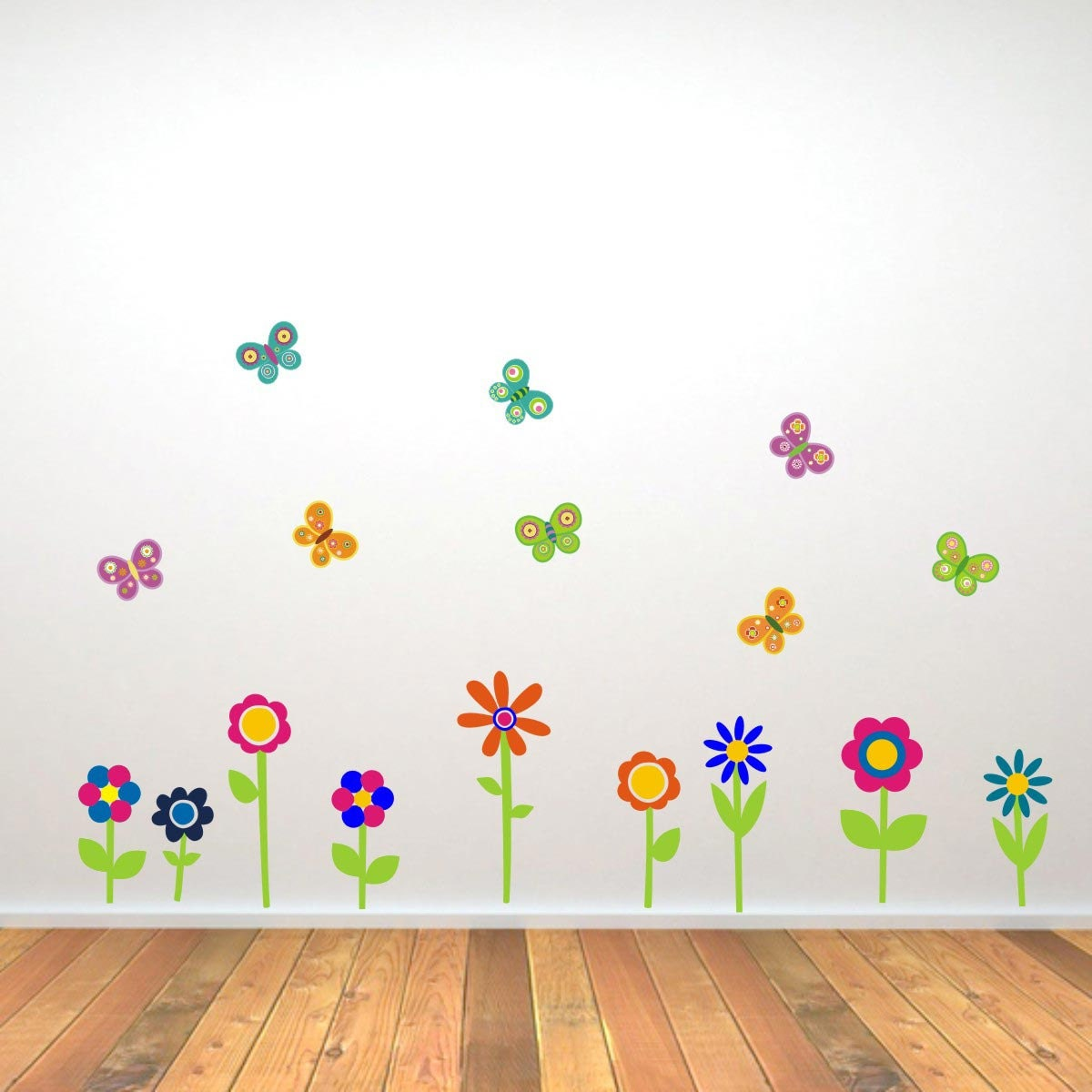 Flower and Butterfly Wall Stickers Flower Wall Decals