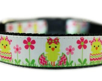 "Dog Collar Easter 1"" Easter Chick Spring Dog Collar"