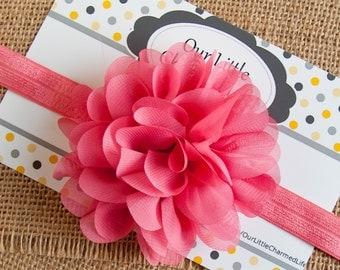 Pink Headband, Easter Headband, Pink Toddler Headband, Pink Flower Headband, Pink Headband, Baby Headband, Pink Headband, Newborn Headband