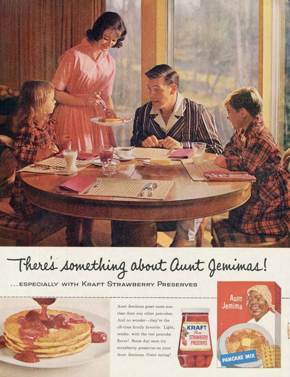 1960 aunt jemima pancake mix ad familie frühstück von advintagecom
