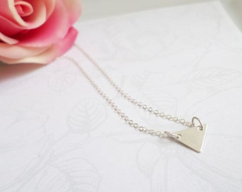 FREE US Ship Sterling Triangle Necklace Geometric Minimalist Necklace Sterling Layering Necklace Triangle Layer Necklace