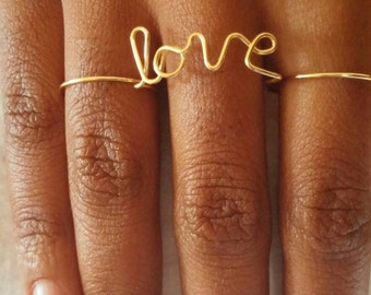 Love Double Finger Wire Ring