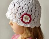 Kids lace sun hat,  kids summer hat, girls sunhat, cotton sun hat, floppy hat, toddler sun hat, toddler summer hat, bucket hat, beach hat