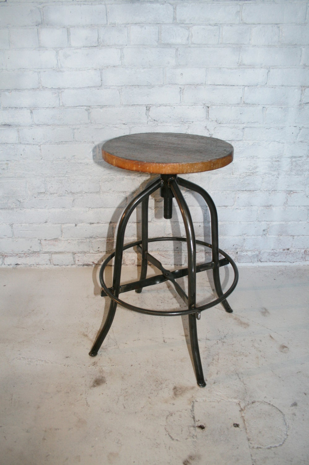 Rustic Bar Stool Industrial Bar Stool By Hammeredintime On
