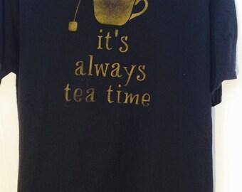It's Always Tea Time, Lewis Carroll, Alice in Wonderland Book Shirt