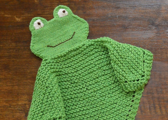 PDF Knitting Pattern FROG  Security blanket lovey      kp0613