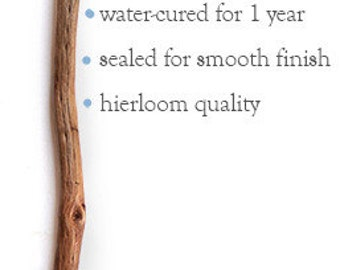 Hand Carved Australian Pine Crochet Hook, Water Cured & Sealed Finish, 7mm